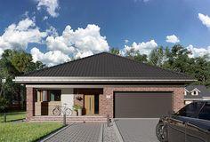 Projekt domu Kordian Rex - murowana – beton komórkowy 124,6 m2 - koszt budowy - EXTRADOM House Plans, House Design, How To Plan, Outdoor Decor, Home Decor, Minimalist House, House Siding, Minimalism, Projects