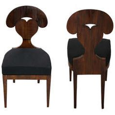 Pair of Biedermeier side chairs | From a unique collection of antique and modern side chairs at https://www.1stdibs.com/furniture/seating/side-chairs/