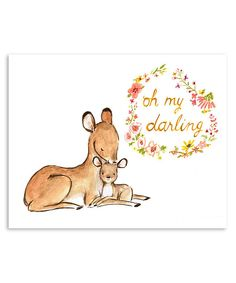 Look at this Baby Mine Deer Print on #zulily today!