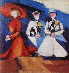 'drei weiblich figuren', 1910 von Aleksandra Ekster (1882-1949, Poland)