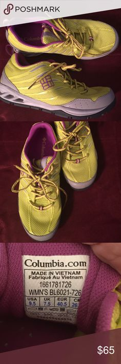 Columbia Women's Tennis Shoes Yellow Purple Sz 9.5 Super bright brand new without box tennis shoes 💜💜💜 Columbia Shoes Athletic Shoes