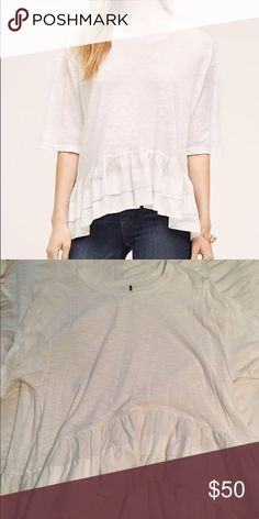 Anthropologie Top Only worn once, in perfect condition so price is pretty firm. Size small, brand is Akemi + Kin, purchased from Anthropologie. Anthropologie Tops Blouses