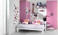 Bed with platform for desk