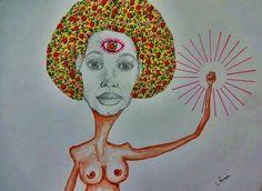 Female Energy #female #feminist #willow #blackpower #aquarela #colagem #drawing