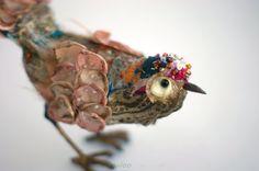 Textile bird textile sculpture soft sculpture by Bizzzness on Etsy