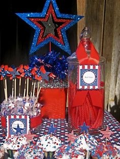 Forth of July party dessert table