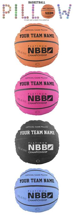 "Basketball Official Game Pillows are ready to personalized gifts are just so easy. Change any text or select your team colors basketball pillow . A perfect gift for the sports enthusiast for ladies basketball, women's basketball, men's basketball, boys basketball, girls basketball, kids basketball, youth basketball, children's basketball"" Show it off at your basketball team, coach, friends, at the game, or relax on it at home. Basketball,its not just a sport it's a lifestyle."
