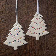 ceramic ornament with multi coloured lights