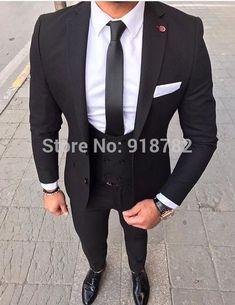 S suits, suits for men 3 piece suits, formal suits, mens fashio Best Suits For Men, Cool Suits, Suit Styles For Men, Suit For Men, Mens Fashion Suits, Mens Suits, Best Mens Fashion, Black Suit Men, Black Three Piece Suit