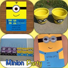 Decorations for Minion themed birthday party