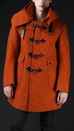Manteaux homme Burberry Prorsum duffle coat Laine Orange ref