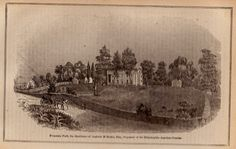 1874 FOUNTAIN PARK Print Andrew Makin Estate by plaindealing