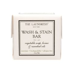 Whether it's makeup, sunscreen, or sunless tanner, you don't have to jump through hoops to get rid of your ring-around-the-collar. This handy multitasker from The Laundress® eliminates pesky stains in hard-to-reach places and is perfect for hand washing or laundering on the go. Stash a bar in your suitcase and you'll never have to worry about running out of clean clothes the next time you travel.