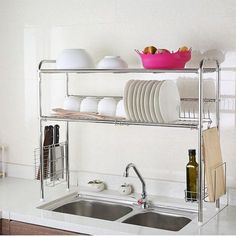 1208S sink 304 stainless steel dish rack shelving rack Drain drip dish rack storage rack turret chopstick-in Kitchen Knives from Home, Kitchen…