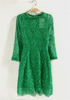 Awesome green lace dresses 2017-2018