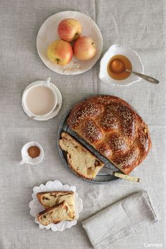 Challah de manzana y miel - No quieres caldo? ... Pues toma 2 tazas.
