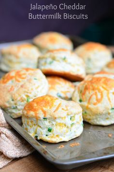 Jalapeño Cheddar Buttermilk Biscuits. Perfect addition to any dinner.| from willcookforsmiles.com