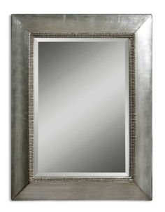 50 Antiqued Silver Leaf  Black Brushed Framed Beveled Rectangular Wall Mirror * This is an Amazon Affiliate link. You can find out more details at the link of the image.