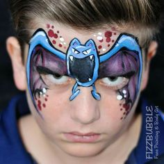 Zubat Face Paint.