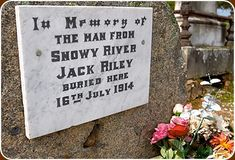Jack Riley is buried in the Corryong Cemetery