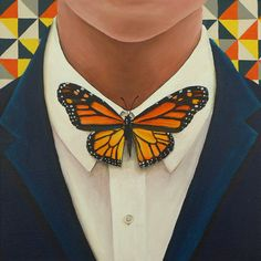The word for 'bow tie' in Dutch is 'vlinderdas'. Vlinder means butterfly. Das means tie. So what you call a bow tie in (.) Read More meaning Butterfly tie (vlinderdas) painting - Magical Daydream Diy Fashion, Ideias Fashion, Fashion Outfits, Womens Fashion, Fashion Design, Fashion Trends, Rock Fashion, Terno Casual, Look Hippie Chic