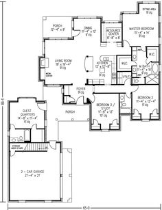 images about a in law suite on Pinterest   Floor plans    Country Style House Plans   Square Foot Home   Story  Bedroom and Bath  Garage Stalls by Monster House Plans   Plan Separate in law quarters