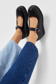 Chunky Platform Mary Janes | Nasty Gal Suede Creepers, Metallic Espadrilles, One Step Forward, Kawaii Shoes, Socks And Heels, Kinds Of Shoes, Lace Up Sandals, Mary Jane Shoes, Platform Shoes