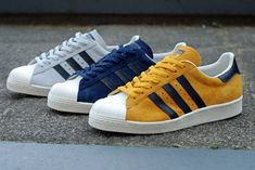 """adidas Superstar 80s """"Suede & Snake"""" ... adidas Superstars are here for good. It doesn't matter whether ..."""