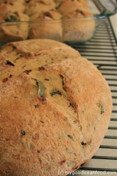 Herby Olive Tomato Kale Bread from My Good Clean Food for the May 11 Virtual Vegan Potluck.