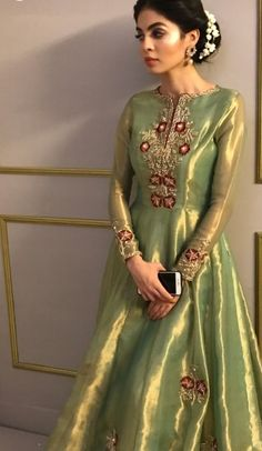 Dresses - Stunning Party Wear ❤️ Can be stitched according to customer's measurements SWIPE left for more ⬅️ For queries and orders kindly DM us,… Shadi Dresses, Pakistani Formal Dresses, Indian Gowns Dresses, Pakistani Wedding Outfits, Pakistani Dress Design, Pakistani Party Wear Dresses, Indian Party Wear, Indian Designer Outfits, Indian Outfits