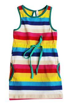 There & Back Dress - Rainbow Stripe