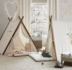 adorable teepee style tent - an easy, fold up alternative from RH Baby & Child