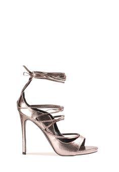37d94571655c63 Aussi féminines que stylées, ces chaussures à talons en simili cuir façon  peau de serpent