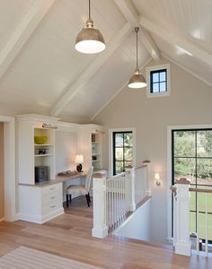 Home Office Landing area -- keep on top of all the household going-ons and get your work done in an open, airy space!
