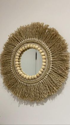 Diy Crafts For Home Decor, Diy Crafts Hacks, Diy Crafts For Gifts, Diy Wall Art, Diy Art, Diy Wall Decor, Macrame Wall Hanging Diy, Macrame Mirror, Rope Crafts