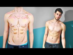 Contouring My Abs ! Contouring My Abs ! Anime Eye Makeup, Anime Cosplay Makeup, Male Makeup, Body Makeup, Makeup Tips, Makeup Products, Body Contouring, Contour Makeup, Fantasy Makeup
