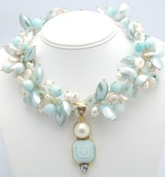 ❥ pearls and misty sea shells