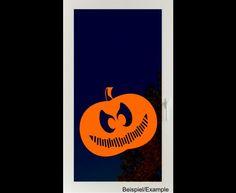 Deko Halloween - Grinsender Kürbis - Halloween - Folien-Tattoo - ein Designerstück von CatrinKerschl bei DaWanda