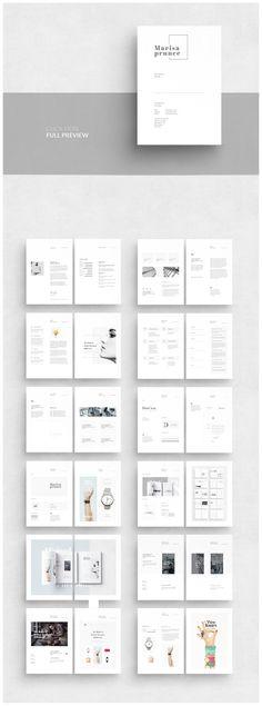 Portfolio by AlfianBrand™ on Creative Market - Brochure Templates - Buch Web Design, Website Design, Page Design, Portfolio Design, Portfolio Book, Hipster Design, Book Design Layout, Print Layout, Architecture Portfolio Examples