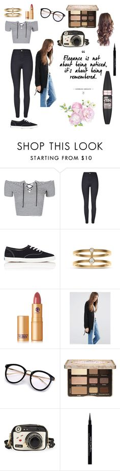 """""""Sweet Expression"""" by jessielatte ❤ liked on Polyvore featuring Topshop, Keds, Sophie Bille Brahe, Lipstick Queen, Pull&Bear, Too Faced Cosmetics, Betsey Johnson, Givenchy and Maybelline"""