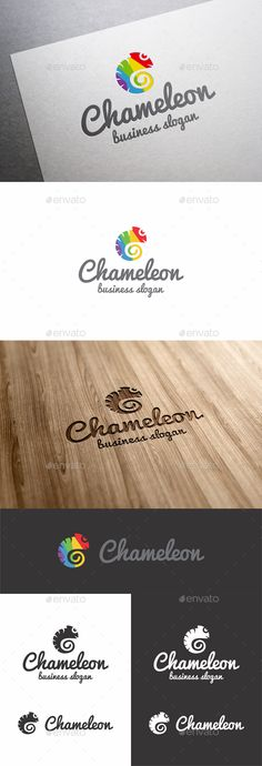 Chameleon by djjeep Chameleon �20Happy / Funny Chameleon Logo Template. Suitable for : Design Studios, Photography, Media, Clothing Businesses, Web Pag