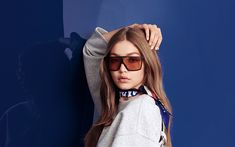 Download wallpapers Gigi Hadid, 2018, portrait, photoshoot, Tommy Hilfiger, beauty, Hollywood