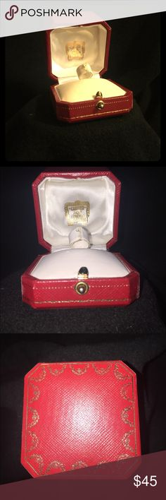 Authentic Cartier love ring box Authentic Cartier love ring box this listing is for a box only two minor scuffs on bottom of box see pic Cartier Accessories