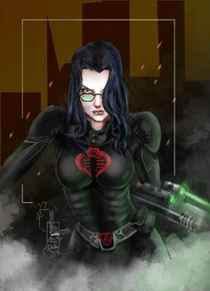 """The Baroness is Cobra Commander's """"Right-Hand Woman""""-the second-in-command of Cobra. Ruthless, beautiful, passionate, and an efficient killer, The Baroness is a deadly enemy of the forces of freedom. Baroness Gi Joe, Cobra Art, Cobra Commander, Gi Joe Cobra, Cosplay, Marvel Vs, Anime Comics, Dc Comics, Female Characters"""
