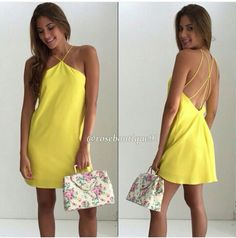 Amarilli Classic Outfits, Casual Outfits, Rachel Zoe, Dress Outfits, Slip Dresses, Variables, Summer Dresses, Sewing, Yellow