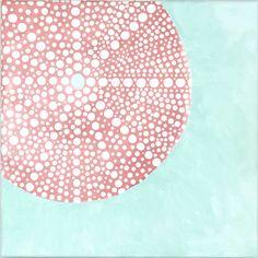 Americana on Canvas: Summer Kina Shell Sea Urchin Shell, Sea Urchins, Lemon Ideas, Americana Paint, Beach Paintings, Pink Lemon, Painted Shells, Coastal Art, Shell Art