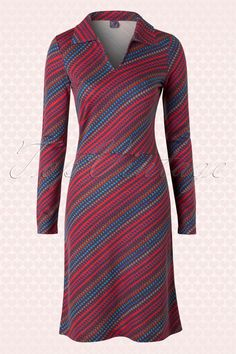 Wow To Go! - 60s Love Me Wow Retro Dress in Red