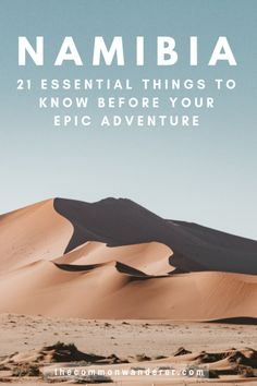 21 essential things to know before you visit Namibia : So you can have the best possible trip to Namibia, here are our top 21 Namibia travel tips to know before visiting this remarkably beautiful country Travel Guides, Travel Tips, Travel Set, Solo Travel, Africa Destinations, Travel Destinations, Holiday Destinations, South America Travel, Roadtrip