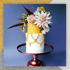 Sunflower yellow with white wedding cake made with Satin Ice Shimmer fondant Amazing Wedding Cakes, Amazing Cakes, Satin Ice Fondant, Gum Paste Flowers, Vanilla Flavoring, Sugar Flowers, How To Make Cake, Pillar Candles, Boho Wedding