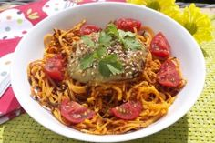 sweet potato noodles with creamy avocado sauce www.rosannadavisonnutrition.com